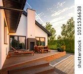 beautiful exterior view of... | Shutterstock . vector #1051536638