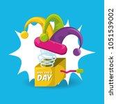 april fools day design | Shutterstock .eps vector #1051539002