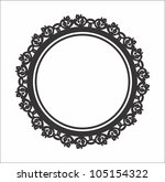 a elegant photo floral circle... | Shutterstock .eps vector #105154322