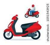 trendy electric scooter ... | Shutterstock .eps vector #1051543925
