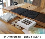 samples of material  wood  ... | Shutterstock . vector #1051546646