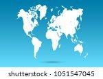 color world map vector | Shutterstock .eps vector #1051547045