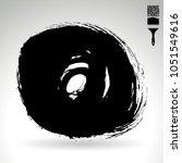 black brush stroke and texture. ... | Shutterstock .eps vector #1051549616