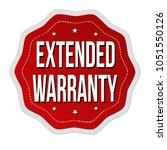 extended warranty label or...   Shutterstock .eps vector #1051550126