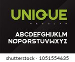 unique vector bold industrial... | Shutterstock .eps vector #1051554635