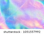 holographic real texture in... | Shutterstock . vector #1051557992