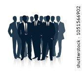 group of businessmen. the... | Shutterstock . vector #1051566902