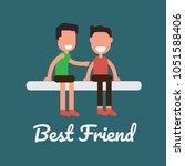 concept of best friends   two... | Shutterstock .eps vector #1051588406