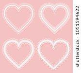 set of frames of white wide... | Shutterstock .eps vector #1051594622