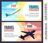 vector travel voucher template. ... | Shutterstock .eps vector #1051595855