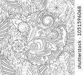 tracery seamless pattern.... | Shutterstock .eps vector #1051596068