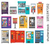 vending machine vector vend... | Shutterstock .eps vector #1051597352