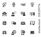 communication icons   set 1 | Shutterstock .eps vector #105159776