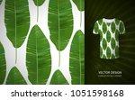 vector green tropical palm... | Shutterstock .eps vector #1051598168