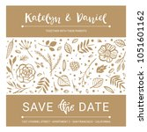 save the date. wedding... | Shutterstock .eps vector #1051601162