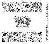 flower logo template. bloom... | Shutterstock .eps vector #1051601222