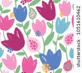 seamless vector pattern with... | Shutterstock .eps vector #1051610462