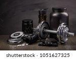sports  nutrition  supplements  ... | Shutterstock . vector #1051627325