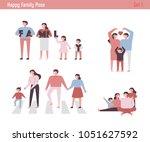 happy family figure. vector... | Shutterstock .eps vector #1051627592