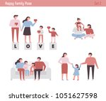happy family figure. vector... | Shutterstock .eps vector #1051627598
