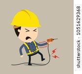 feel a shock  vector... | Shutterstock .eps vector #1051629368