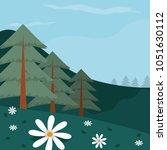 beautiful forest landscape | Shutterstock .eps vector #1051630112