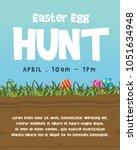 happy easter egg celebration... | Shutterstock .eps vector #1051634948