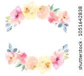blank painted spring flower... | Shutterstock . vector #1051642838