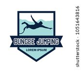 bungee jumping logo with text... | Shutterstock .eps vector #1051643816