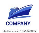 logistic ship for shipping... | Shutterstock .eps vector #1051660355