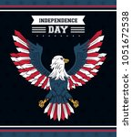 usa independence day card | Shutterstock .eps vector #1051672538