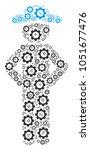 gentleman akimbo composition of ... | Shutterstock .eps vector #1051677476