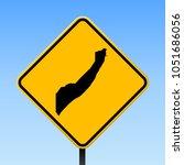 somalia map road sign. square... | Shutterstock .eps vector #1051686056