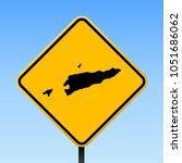 timor leste map road sign.... | Shutterstock .eps vector #1051686062