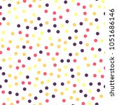 colorful polka dots seamless... | Shutterstock .eps vector #1051686146