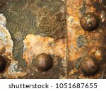 old rusted steel   rusty metal... | Shutterstock . vector #1051687655