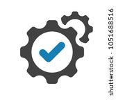 settings icon with check sign....   Shutterstock .eps vector #1051688516