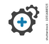 settings icon with add sign.... | Shutterstock .eps vector #1051688525