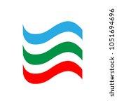 ribbon set. emblem modern... | Shutterstock .eps vector #1051694696
