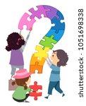 illustration of stickman kids... | Shutterstock .eps vector #1051698338