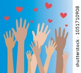 hands and heart donation donor... | Shutterstock .eps vector #1051710908