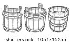 set of wine or beer barrel and... | Shutterstock .eps vector #1051715255