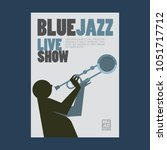 blue jazz poster   Shutterstock .eps vector #1051717712
