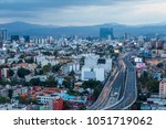 aerial photo of the highway... | Shutterstock . vector #1051719062