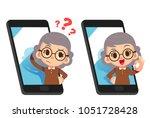 vector illustration of elderly...