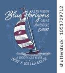 blue horizons.sketch sail... | Shutterstock .eps vector #1051729712