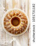 easter yeast cake on a white... | Shutterstock . vector #1051731182