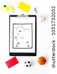 sport judging concept.... | Shutterstock . vector #1051732052