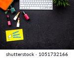 beauty blogger workplace... | Shutterstock . vector #1051732166