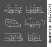 auto rvs  camper cars   vans ... | Shutterstock .eps vector #1051733096